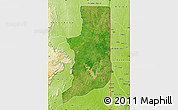 Satellite Map of Ogou, physical outside