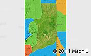 Satellite Map of Ogou, political outside
