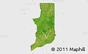 Satellite Map of Ogou, single color outside