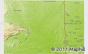 Physical Panoramic Map of Ogou