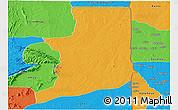 Political Panoramic Map of Ogou