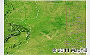 Satellite Panoramic Map of Ogou