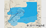 Political Shades Panoramic Map of Plateaux, shaded relief outside