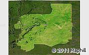 Satellite Panoramic Map of Plateaux, darken