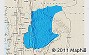 Political Map of Wawa, shaded relief outside