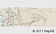 Shaded Relief Panoramic Map of Wawa