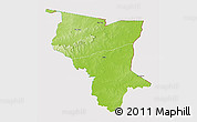 Physical 3D Map of Savanes, cropped outside