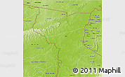 Physical 3D Map of Savanes