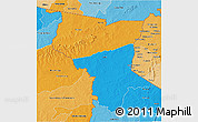 Political 3D Map of Savanes, political shades outside
