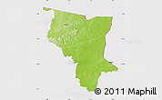 Physical Map of Savanes, cropped outside