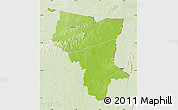 Physical Map of Savanes, lighten