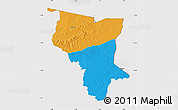 Political Map of Savanes, cropped outside