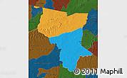 Political Map of Savanes, darken