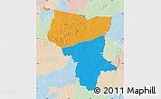 Political Map of Savanes, lighten
