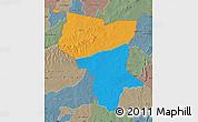 Political Map of Savanes, semi-desaturated