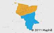 Political Map of Savanes, single color outside