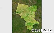 Satellite Map of Savanes, darken