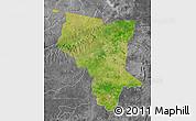 Satellite Map of Savanes, desaturated