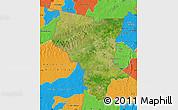 Satellite Map of Savanes, political outside