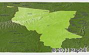 Physical Panoramic Map of Savanes, darken