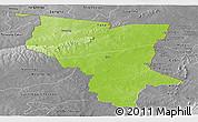 Physical Panoramic Map of Savanes, desaturated