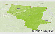 Physical Panoramic Map of Savanes, lighten
