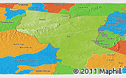 Physical Panoramic Map of Savanes, political outside