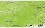 Physical Panoramic Map of Savanes