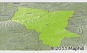 Physical Panoramic Map of Savanes, semi-desaturated