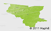 Physical Panoramic Map of Savanes, single color outside