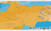 Political Shades Panoramic Map of Savanes