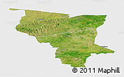 Satellite Panoramic Map of Savanes, single color outside