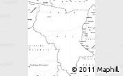 Blank Simple Map of Savanes