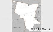 Gray Simple Map of Savanes
