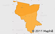Political Shades Simple Map of Savanes, cropped outside