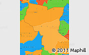 Political Shades Simple Map of Savanes, political outside