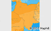 Political Shades Simple Map of Savanes