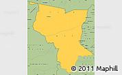 Savanna Style Simple Map of Savanes