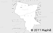 Silver Style Simple Map of Savanes