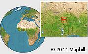 Satellite Location Map of Tone