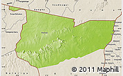 Physical Map of Tone, shaded relief outside