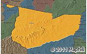 Political Map of Tone, darken, semi-desaturated