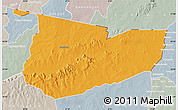 Political Map of Tone, lighten, semi-desaturated