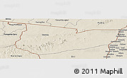 Shaded Relief Panoramic Map of Tone