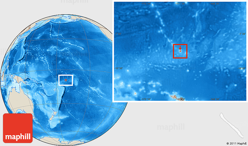 Shaded Relief Location Map Of Tokelau - Tokelau map