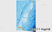 Political Shades 3D Map of Tonga
