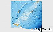 Political Shades Panoramic Map of Tonga