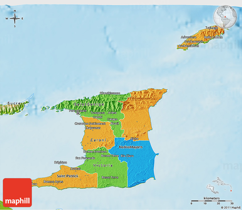 Political 3D Map of Trinidad and Tobago, physical outside on physical characteristics of california, physical map of central african republic, physical map of newfoundland and labrador, physical map of american samoa, physical map of the dominican republic, physical map of saint lucia, physical features of trinidad, physical map of united arab emirates, physical map of the virgin islands, physical map of republic of congo, physical map of west indies, physical map of baltic states, physical map of tokelau, physical map of new zeland, physical map of cote d'ivoire, physical map of bosnia and herzegovina, physical map of bodies of water, physical map of nauru, physical map of guadeloupe, physical map of former ussr,