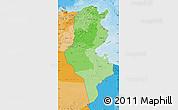 Political Shades Map of Tunisia
