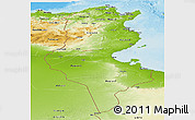 Physical Panoramic Map of Tunisia